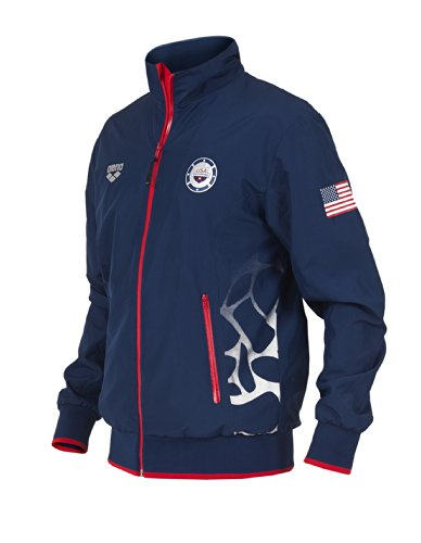 Arena Usa Swimming Full Zip Jacket, Navy, XX-Large