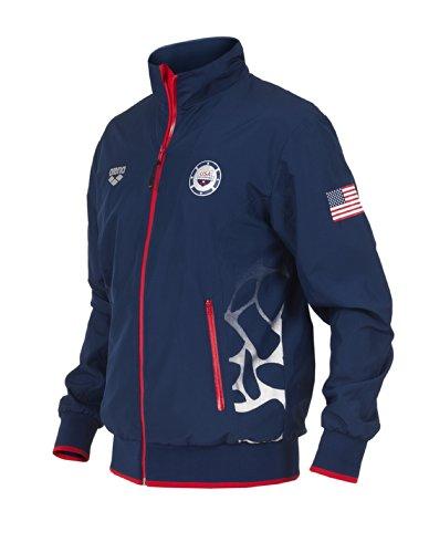 Arena Usa Swimming Full Zip Jacket, Navy, - Usa Jacket Podium