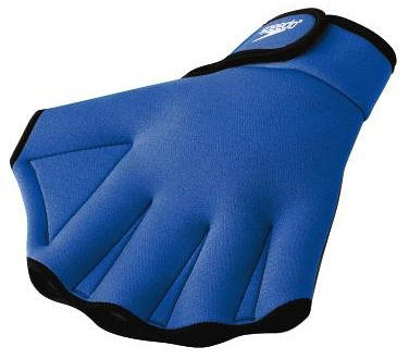 Speedo Aqua Fit Swim Training Gloves, Royal, Small