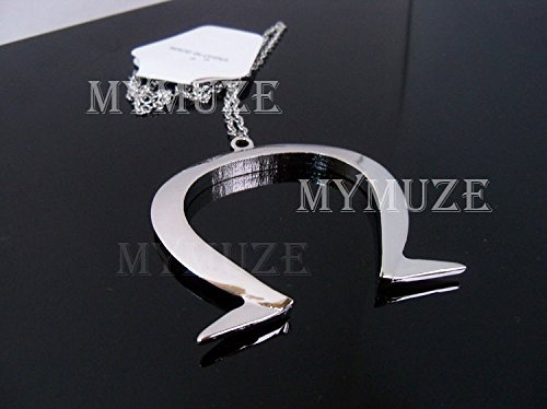 FidgetGear Alice: Madness Returns Omega Symbol Ω Silver Pendant Cosplay Necklace 1:1 Size]()