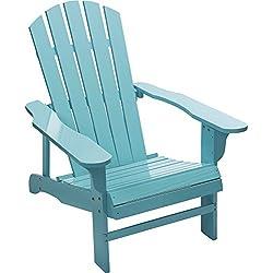 Kotulas Classic Turquoise Painted Wood Adirondack Chair