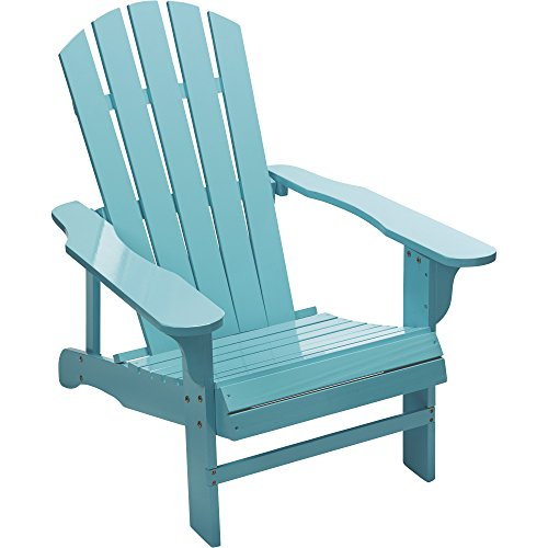 Country Porch Arm Chair - Leigh Country Classic Turquoise Painted Wood Adirondack Chair