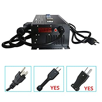 Image of Abakoo Golf Cart Battery Charger 36V 18A for Club Car EzGo TXT with Crowsfoot Style Connector Crows Foot Plug AC Adapters