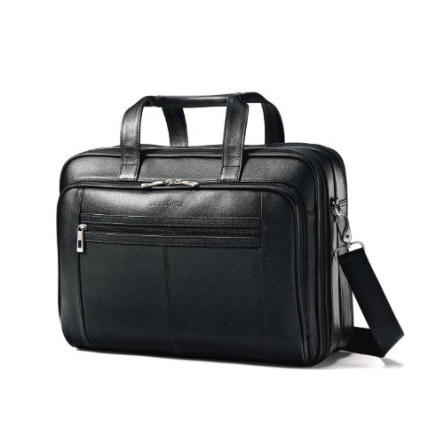 Samsonite Leather Checkpoint Friendly Brief (Black) (Checkpoint Luggage)