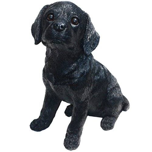 (Michael Carr Designs 80098 Labrador Puppy Statue, Large, Shadow-Black)