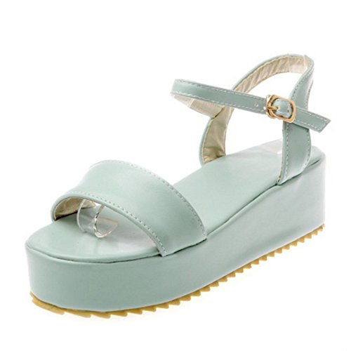 SJJH Platform Sandals with Large Size 12 UK and 3-Colors Available Casual Sandal Shoes Blue CXLnYE