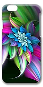 iPhone 6 Plus Case, Customized Slim Protective Hard 3D Case Cover for Apple iPhone 6 Plus(5.5 inch)- Rainbow Flower