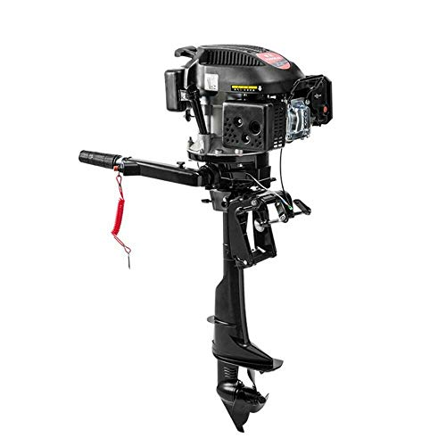 LOYALHEARTDY19 Hangkai 4 Rush 6 Horsepower Air-Cooled Outboard, New Outboard Stroke Petrol Engine Motor Fishing Boat Kayak Air Cooling with Year-Warranty Marine Electric Trolling Drives