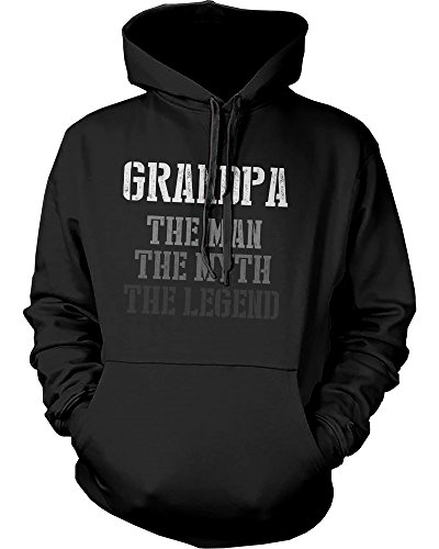 Grandpa Hoodie - 365 Printing The Man Myth Legend Hoodie for Grandpa Christmas Gift Idea for Grandfather (X-Large)