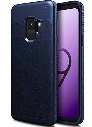 Funda Samsung Galaxy S9, iBetter anti-rasca la Carcasa del teléfono TPU del de la imitación ninguna Case del teléfono móvil caja del teléfono Cover para Samsung Galaxy S9 Smartphone, (Negro) Azul