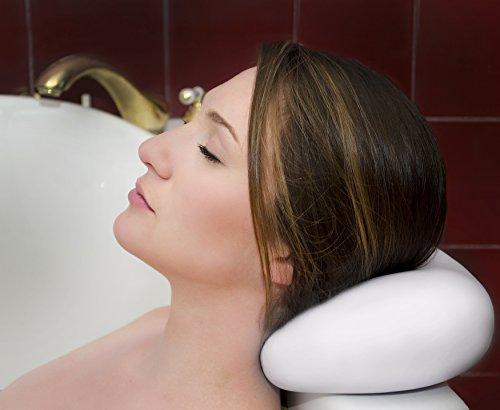Oreiller de bain de luxe avec aspiration tasses ✮ les oreillers lavable et imperméable à l'eau pour Spa ✮ Jacuzzi ✮ baignoire ✮ ferme appuie-tête pour cou ✮ superbes cadeaux pour les mères et les femmes