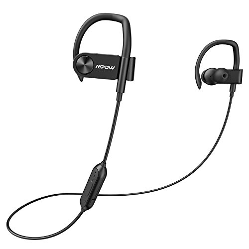 200 Stereo Earphone (Mpow D2 Bluetooth Headphones up to 16 Hours Playback, Ipx7 Waterproof Wireless Earbuds Sport Headphones with Remote and Mic, Secure Fit for Gym Running Workout)
