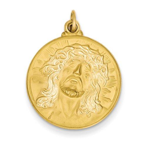 Icecarats Créatrice De Bijoux Pendentif 14K Jésus Médaille