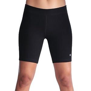 Champion Women's Power Cotton Bike Shorts, Black, XS