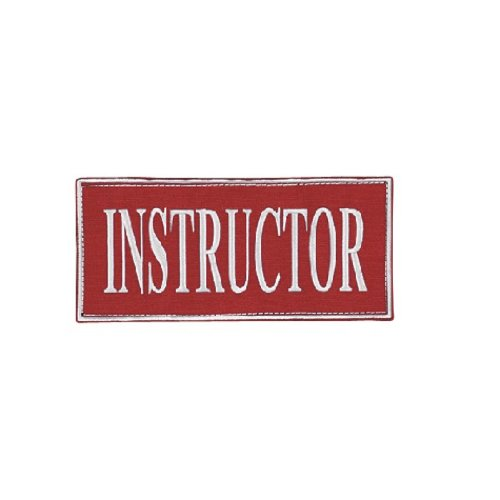 VooDoo Tactical 06-0008016348 Instructor Patch, Red/White, 9X4.125