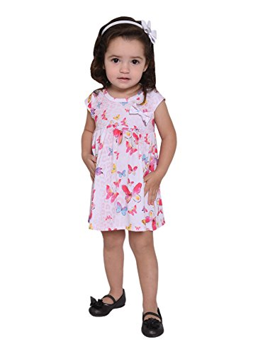 [Pulla Bulla Baby Girl Tropical Style Short Dress 6-9 Months Butterfly] (Baby Animal Dresses)