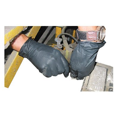 Impact Products 8642S Proguard Disposable Powder-Free General Purpose Nitrile Gloves, Small, Black-129380