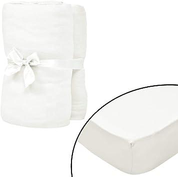 vidaXL 133261-2 sábanas bajeras Ajustables (95 x 200 cm, algodón): Amazon.es: Hogar