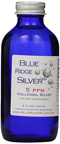 Blue Ridge Silver Glass Bottle Colloidal Silver - 4 oz