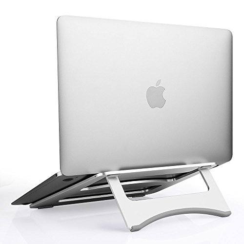 OfficeLead Folding Aluminum Macbook Stand Ventilated Laptop Stand for 7-15 Notebook/ iPad / Tablets New Design Computer PC Tablet Mount Desktop Tablet Stand For Computer PC Notebook Macbook Ipad