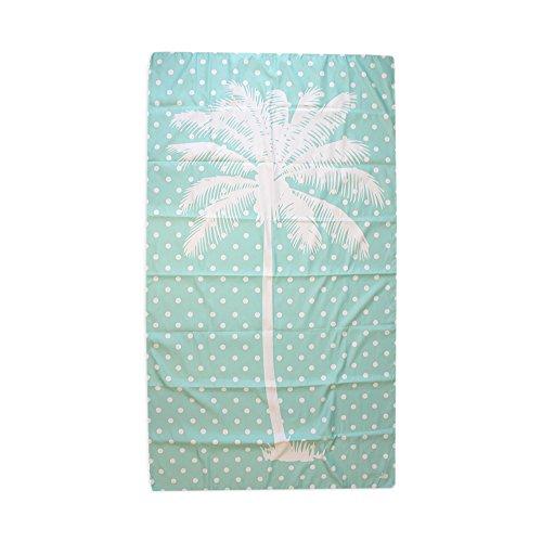 Palm Tree Aqua 40 x 70 Inch Microfiber Ultra Thin Large Beach Towel