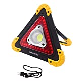 Lebote Rechargeable LED Work Light Outdoor Portable Work Light LED Flood Light Outdoor Camping Light with Rechargeable Battery Power Bank SOS Mode Flash Triangle Emergency Lights