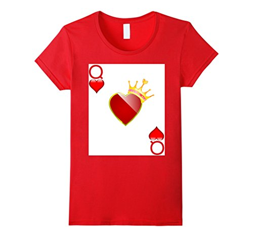Womens Halloween Costume TShirt Couple Great King Queen Hearts XL (Queen Of Hearts Clothes)