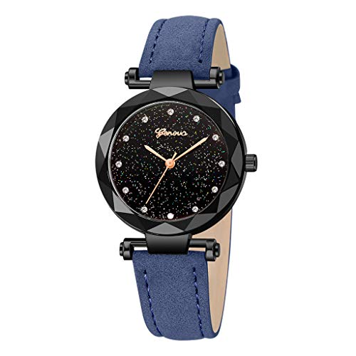 Black Fashion Geneva Ladies Leather Watch, Automatic Mechanical Bracelet Watch Ladies Waterproof Steel Wrist Watches