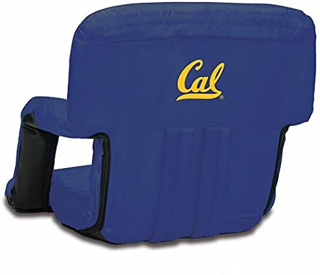 Navy Blue ONIVA Ventura Portable Reclining Stadium Seat, a Picnic Time brand Cal Bears