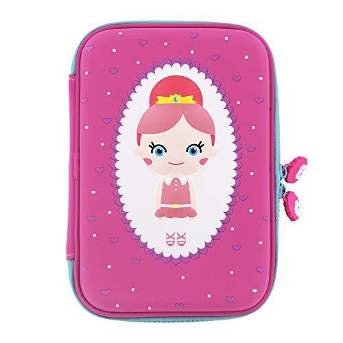 (Rockpapa High-Capacity Princess Pencil Case, Pencil Box, Storage Box for School Students Girls Teens Kids Toddlers Pink)