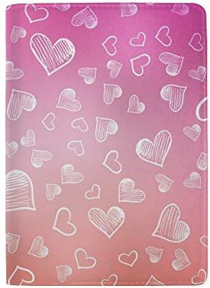 パスポートカバー スキミング防止 本革 パスポートケース 出張 旅行 カードパッケージ 旅行便利グッズ 多機能 旅券ケース 淡いピンクの愛の背景 男女兼用