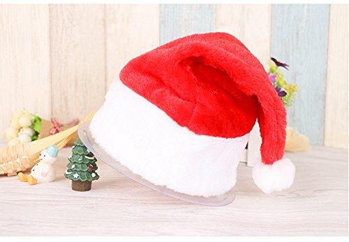 [YUNDA 26x35cm Plush Kids Santa Hat & Comfort Liner Child Christmas Halloween Costume] (Trucker Girl Costume)