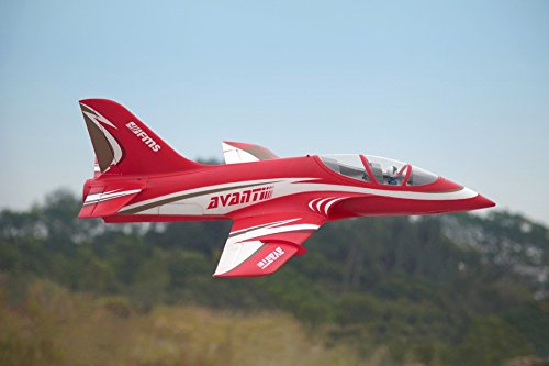 FMS Avanti 70mm Ducted Fan EDF Red Racing RC Airplane Jet 6S PNP (No Radio, battery, charger) ()
