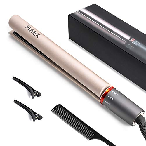 2 in 1 Hair Straightener and Curler, Ceramic Flat Iron with Adjustable Temperature Suitable for All Hair Types, Make Salon Heats Up Fast 250℉-450℉ Hair Curler