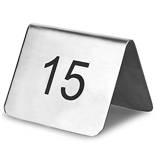 Dinedrinkstuff Stainless Steel Table Number Set Tent Style - Stainless steel table numbers