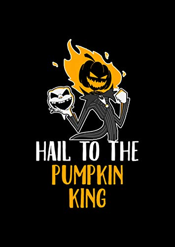 Home Of Merch Hail to The Pumpkin King Sarcstic Pumpkin Rider Funny Halloween Poster Gift on Halloween, Christmas, Birthday Great Pun Novelty Present Idea Unique Black 16x24 Poster ()