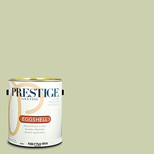 Prestige Paints Interior Paint and Primer In One, 1-Gallon, Eggshell,  Comparable Match of Benjamin Moore Maidenhair (Maidenhair Shell)