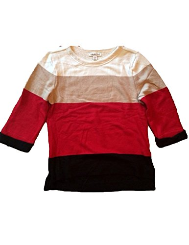 Coldwater Creek Womens Color Block Sweater  X Small