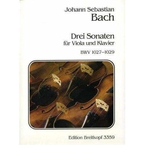Gamba Sonatas (Bach J.S.3 Viola Da Gamba Sonatas BWV 1027 1029 for Viola and Piano by Naumann Breitkopf & Hartel)