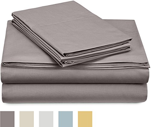 Pinzon 300 Thread Count Percale Cotton Bed Sheet Set - An Amazon Brand - sheet-sets, bedroom-sheets-comforters, bedroom - 41WQH7AQThL -