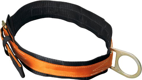 Miller Titan by Honeywell T3310/LAF Tongue Buckle Body Belt with Single D-Ring and 3-Inch Back Pad, Large ()