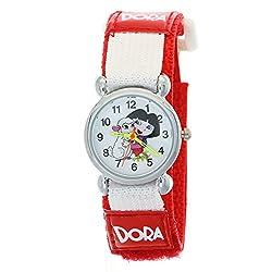 Cartoon Dora the Explorer Nylon Velcro Watches Cute Kid Children Girls Round Dial Quartz Wrist Watch