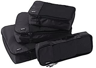 AmazonBasics 4-Piece Packing Cube Set - Small, Medium, Large, and Slim, Black (B014VBGUCA) | Amazon Products