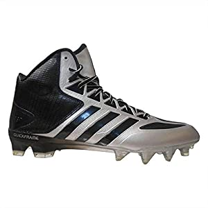 adidas Men's Crazyquick Mid Football Cleats (10.5, Platinum/Black/Titanium)