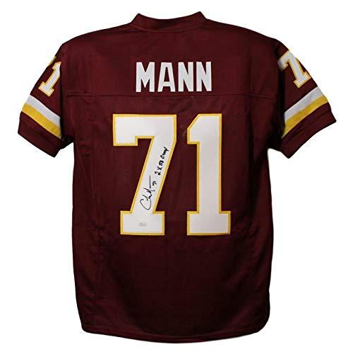 Charles Mann Autographed Washington Redskins XL Red Jersey 2x SB JSA ()
