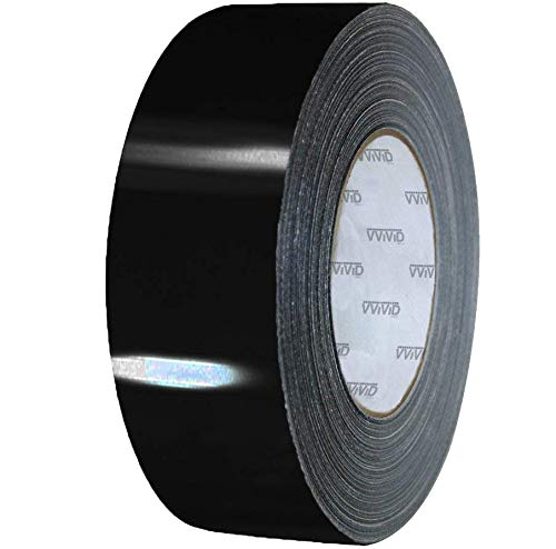 VViViD Black Gloss Air-Release Adhesive Vinyl Tape Roll (6
