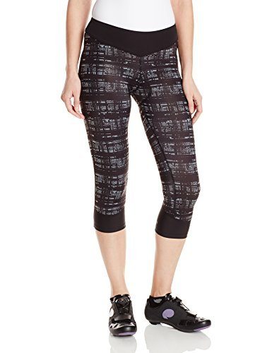 (CANARI Women's Hatch Gel Capri Pants, Black/Grey, Large)
