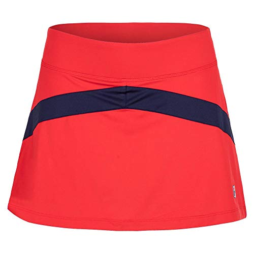Fila Heritage Colorblocked Skirt - Chinese Red/Navy - ()