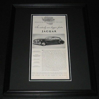 (1951 Jaguar Mark VII ORIGINAL Framed Advertisement 11x14 Promotional Photo)