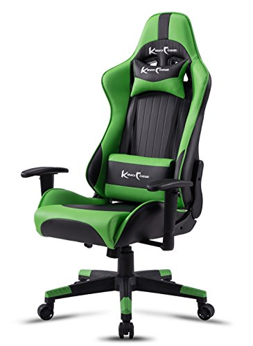 41WQIx qn0L - KingCore-PU-Leather-Ergonomic-Racing-Style-Bucket-Seat-High-back-PC-Gaming-Chair-With-Anti-Fatigue-Lumbar-Support-and-Headrest